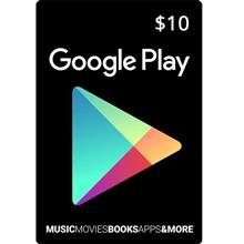 Google Play 10 Dollars Gift Card